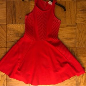 Parker red flare dress size XS